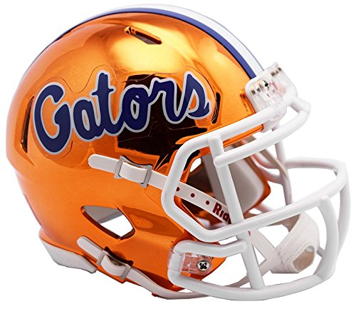 Florida Gators Riddell Mini Helmet - Florida Gators NEW 2018 Alternate Chrome NCAA Riddell SPEED Mini Helmet