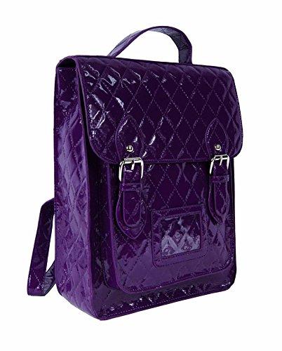 New Work quilted Purple College Girls Bag School Fashion Purple Backpack Quilted Ladies Designer Satchel rSAZqwr