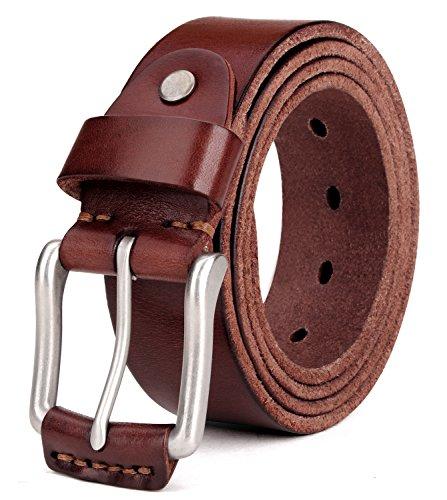 Tonly Monders Vintage Genuine Leather Belt For Men Black/Brown/Coffee, 1 1/2 Inch Width, 36 37 38 -