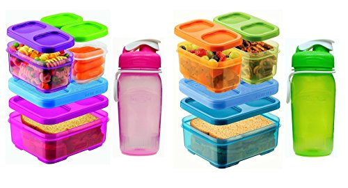 Rubbermaid Lunch Blox and Chug Bottles Set - 2 Sandwich Kits