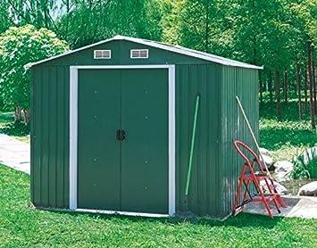ITALFROM Box Casa Casitas rimessa ripostiglio Garaje Coche para Jardín Chapa galvanizada - Tamaño Cm 205 x 257 x 202h - COD. [4438]: Amazon.es: Hogar