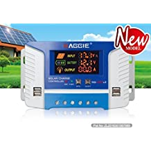 40 Amp PWM Solar Panel Regulator Charge Controller with LCD Display USB Port DC 12V-24V Input/Output