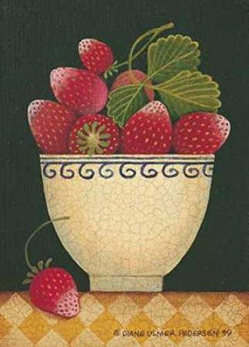 Cup O Strawberries Poster Print by Diane Pedersen (10 x 14)