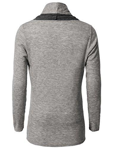 H2H Men Classic Notched Lapel Blazer Cardigan Sweater Khaki US M/Asia L (CMOCAL020) by H2H (Image #3)