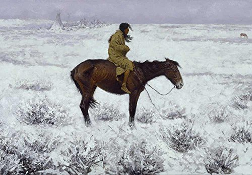 Wall26 The Herd Boy by Frederic Remington - American Illustrator - Country Western - Cowboy Culture - Peel and Stick Large Wall Mural, Removable Wallpaper, Home Decor - 66x96 inches