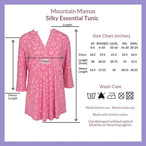Mountain Mamas Womens Silky Tunic
