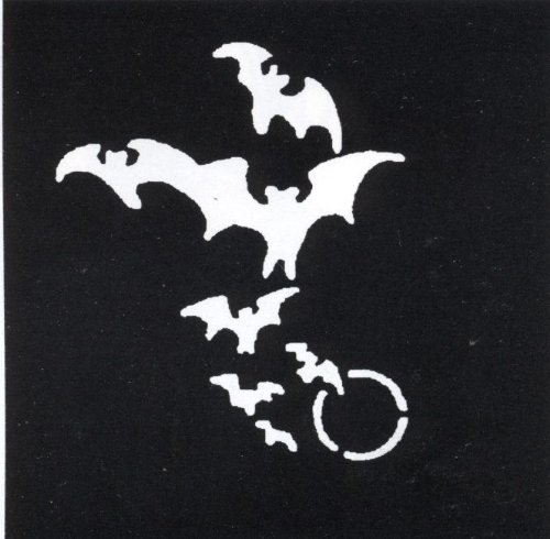 Morris Costumes Bats & Moon Stainless Stencil