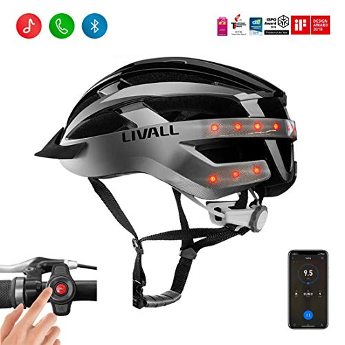 LIVALL MT1 Smart Helmet, Cycling Mountain Bluetooth Helmet, Sides -Built-in Mic, Bluetooth Speakers, Wireless Turn Signals Tail Lights Setting, SOS Alert, Wireless Bike Helmet,Safe & Comfortable
