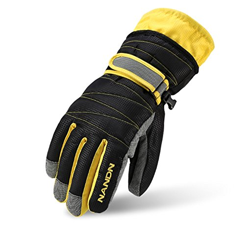 Winter Gloves -30°F Thermal Snow Work Ski Glove Windproof Waterproof Warm Hands in Cold Weather for Women and Men,Cold Resistant Glove with Velvet for Kids(l/black) (Gloves Kombi Winter)