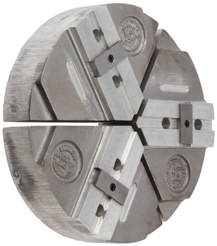 """Abbott Workholding Cast Aluminum 319 Style D American Standard Tongue and Groove Pie Chuck Jaw, 6"""" Length, 6"""" Width, 4"""" Height, 3/8"""" Bolt, (Set of 3)"""