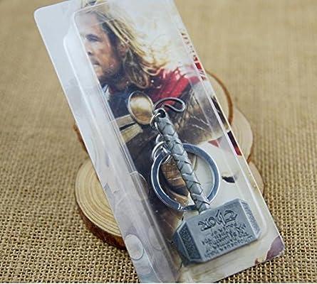 Amazon.com: Tonith Thor - Llavero de metal con diseño de ...