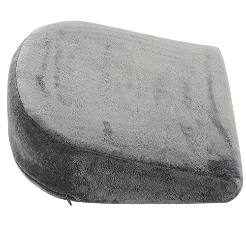 Cheer Collection Memory Foam Maternity Wedge Cushion | Pregnancy Pain Relief Belly Support Pillow with Removable Microplush Washable Cover