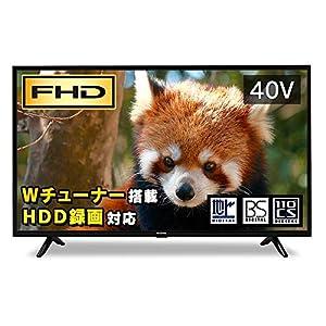 アイリスオーヤマ 40V型 液晶テレビ ハイビジョン ダブルチューナー内蔵 40FB10P