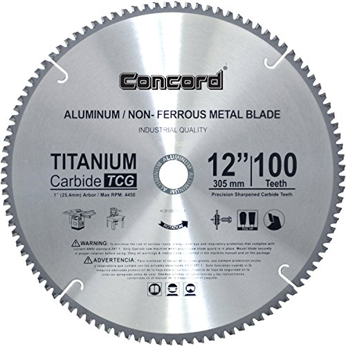 Concord Blades ACB1200T100HP 12-Inch 100 Teeth TCT Non-Ferrous Metal Saw - Arm Inch Hook 12 Shower