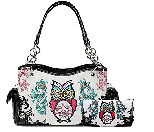 Cowgirl Trendy Western Concealed Carry Colourful Owl Spri...