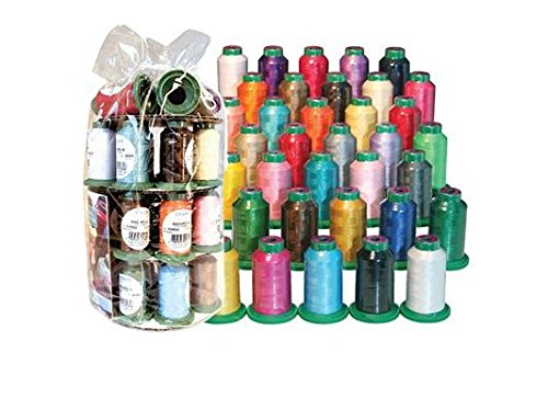 Isacord Quality Embroidery Thread, 35 Assorted Spools Set