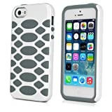 BoxWave HybridCell Apple iPhone 5s Case - 2 Layer TPU and Silicone Protective Case - Apple iPhone 5s Cases and Covers (White/Grey)
