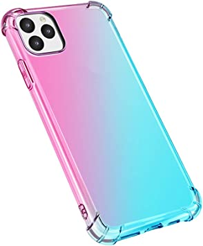 Docooler Nuevo 2019 Estuche para teléfono móvil MAX Gradient Anti-Drop Teléfono móvil Soft TPU Funda Colorida para i-Phone 11 / XR: Amazon.es: Electrónica