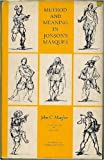 img - for Method and meaning in Jonson's masques book / textbook / text book