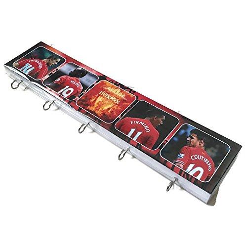 Agility Bathroom Wall Hanger Hat Bag Key Adhesive Wood 5 Hooks Classic Liverpool Football Club's Photo