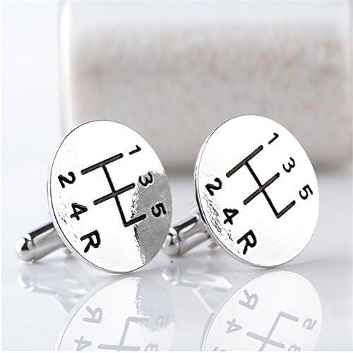 Silver Demarkt Fashion Shirt Cufflinks Transmission Cufflinks Delicate Mens Jewelry for Wedding Gift