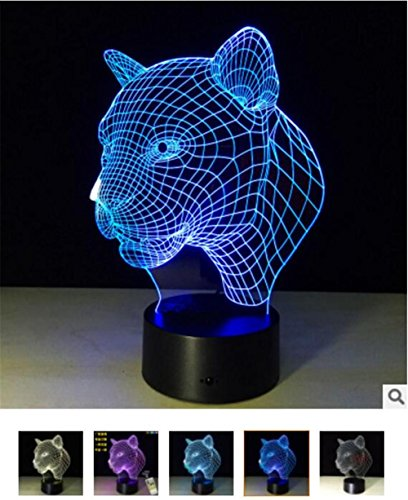 d Induction Lamp LED Lamp Remote Creative Gift 3d Night Light ()