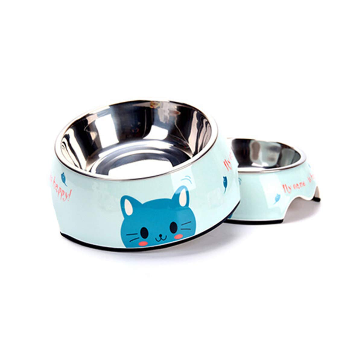 bluee Medium bluee Medium XIAN Cat Bowl, Cat Food Bowl, Dog Food Bowl, Pet Supplies, Ceramic Bowl, Cat Feeder, Dog Food Bowl, Best Gift Easy to Clean Bacteria & Rust Resistant (color   bluee, Size   Medium)