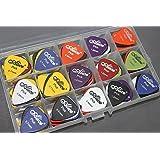 100pcs Acoustic Electric Guitar Picks Plectrum 6 Thickness 0.58 0.71 0.81 0.96 1.20 1.50 mm Pick Case