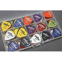 100pcs Acoustic Electric Guitar Picks Plectrum Various Colors 6 Thickness 0.58/0.71/0.81/0.96/1.20/1.50 mm + Pick Case