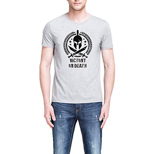 Mens Spartan Warrior Molon Labe VICTORY OR DEATH T-Shirts Men Tee (Shirt Show Victory)
