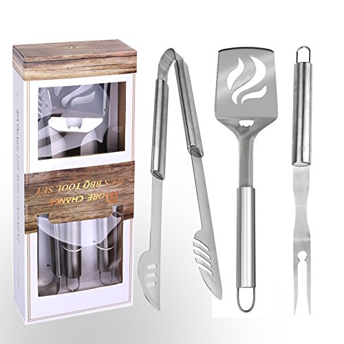 Stainless Steel Food Clamps or Tongs 3 Piece Set - 7