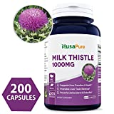 Cheap Best Milk Thistle Supplement 1000mg – 200 Capsules (Non-GMO & Gluten Free) Max Strength Extract 4:1 Milk Thistle Seed Powder Herb Pills, 1000 mg Silymarin Extract for Liver Support, Cleanse, Detox