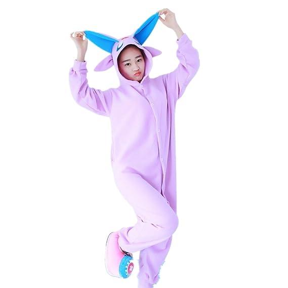 BOMOVO Pijama supersuave de una pieza - Con capucha vellón-genio-morado: Amazon.es: Ropa y accesorios