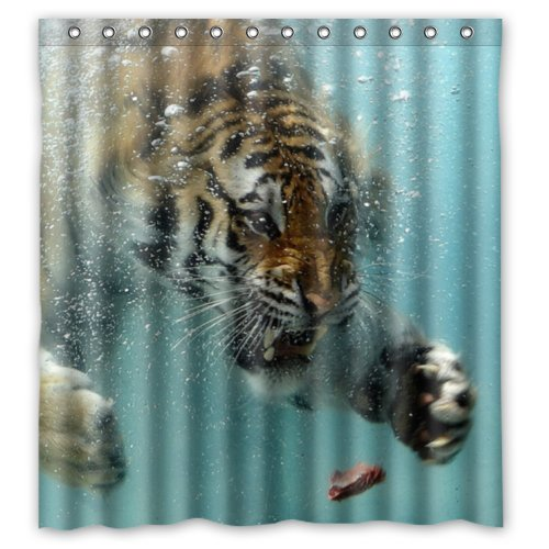 Amazon.com: 100% Polyester Waterproof Fierce King Of Forest Tiger ...