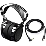 HIFIMAN HE400i Over Ear Open Back Magnetic Planar Reference Studio Headphone with 3.5mm Plug-in Connector-Extended…