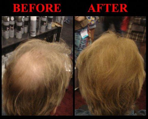 Hair Cubed® - Light Blond, Hair Building Fiber Spray -(Water Proof) Lasts 2 - 5 Months by Hair Cubed  Light Blonde Hair Fiber (WaterProof) (Image #3)