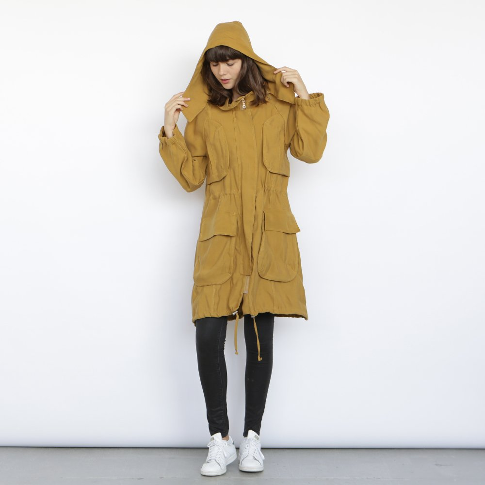 Monti Coat , Yellow winter coat, Army jacket. by Naftul