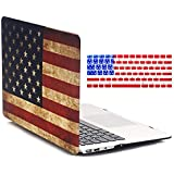 MacBook Air 11 Inch Case - iZi Way Star-Spangled Banner Retro American Flag Image Polycarbonate Hard Shell Case Cover for MacBook Air 11.6 Inch (Model: A1370 / A1465)