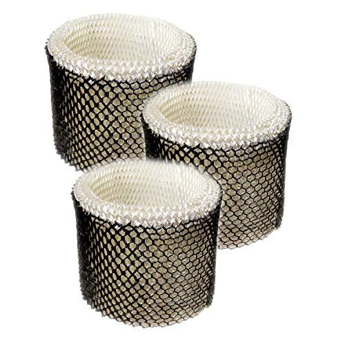 HQRP 3-Pack Wick Filter for Honeywell HEV320 HEV320B HEV320W HCM-890B HCM-890C HCM-890-20 HCM-890LTG HCM-890MTG HCM-890LWS Humidifiers, Filter C Coaster