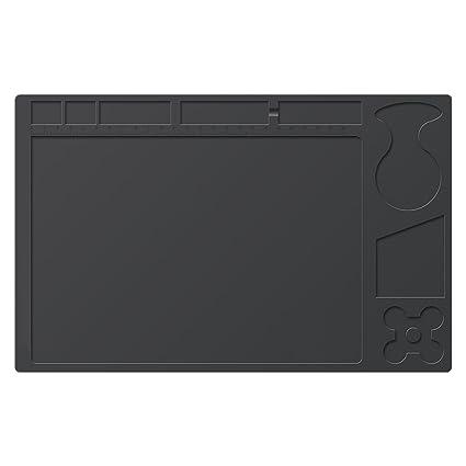 Soldadura Pad/alfombrilla, mantel de silicona resistente al calor alfombrilla de materiales de soldadura Manta de soldadura electrónica para reparación ...