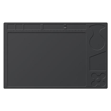 Soldadura Pad/alfombrilla, mantel de silicona resistente al calor alfombrilla de materiales de soldadura Manta de soldadura electrónica para reparación de ...