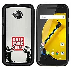 De venta se cierra hoy Banksy- Metal de aluminio y de plástico duro Caja del teléfono - Negro - Motorola Moto E2 / E(2nd gen)