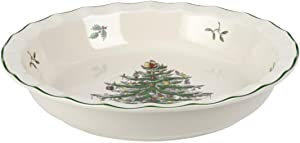Spode Christmas Tree Pie Plate, 10-Inch