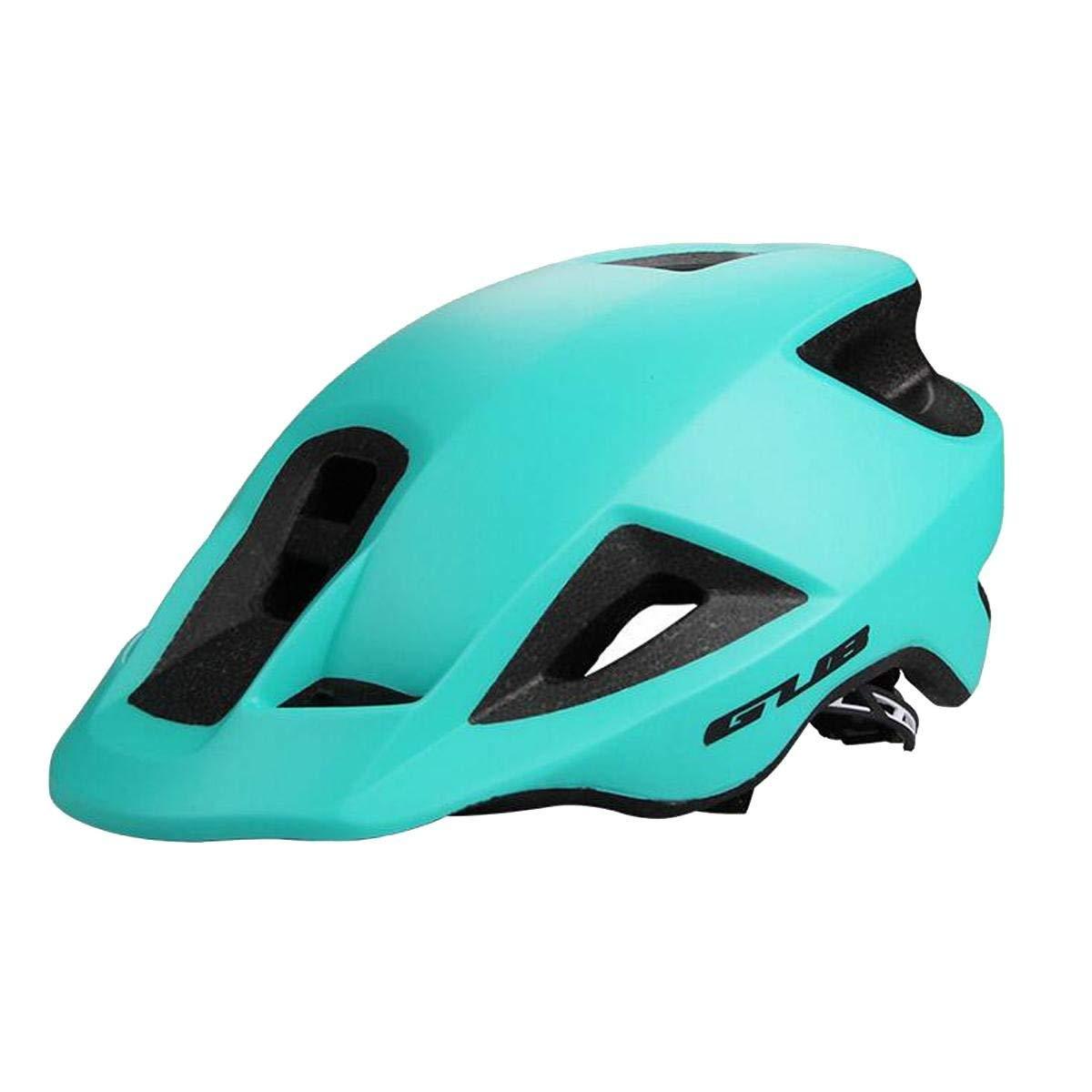 サイクリング自転車用ヘルメット 男性女性サイクリング自転車ヘルメット、一体成形自転車ヘルメット安全ヘルメットロードマウンテン地形自転車専用 スポーツ用保護ヘルメット (色 : 青) B07MJFGCCS 青