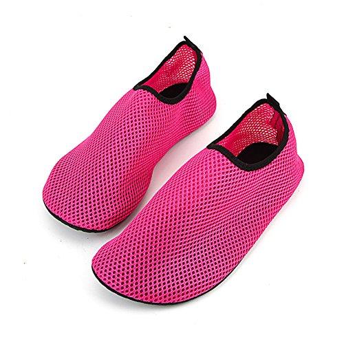 Men Women Diving Shoes Scuba Snorkeling Boots Diving Socks Wetsuit Prevent Scratche Non-slip Swim Seaside Beach Shoes Rose Red