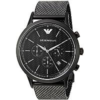 Emporio Armani Men's AR2498 Dress Black Mesh Quartz Watch