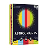 Astrobrights Color Paper, 8.5''x11'', 24lb/89 gsm, Everyday 5-Color Assortment, 500 sheets (99743)