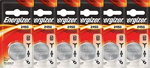 Energizer 3-Volt Coin Lithium Batteries CR2450 6 PK