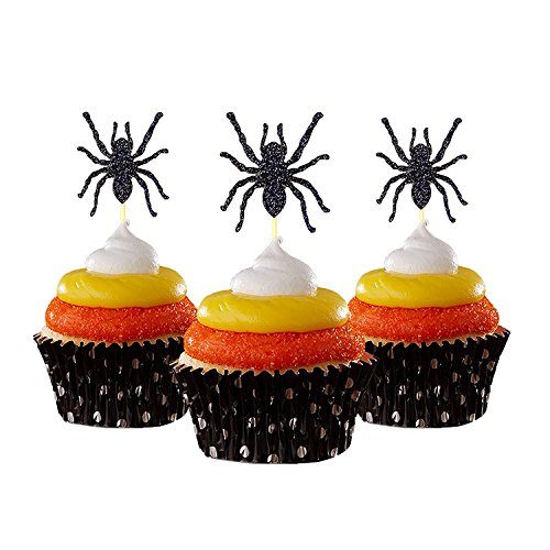 Spider Halloween Cupcake Topper 12 pieces per Pack