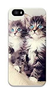 iPhone 5 5S Case Cute Blue Eyed Kittens 3D Custom iPhone 5 5S Case Cover